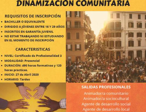 Certificado profesionalidad «Dinamización comunitaria» con Fundación El Tranvía