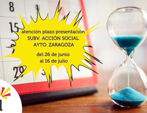 Abierto plazo subvenciones Acción Social Ayuntamiento Zaragoza