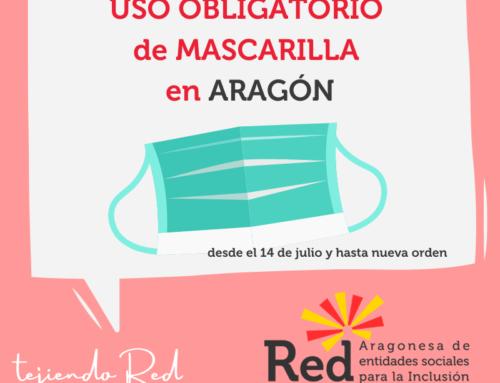 Aragón impone el uso obligatorio de mascarilla