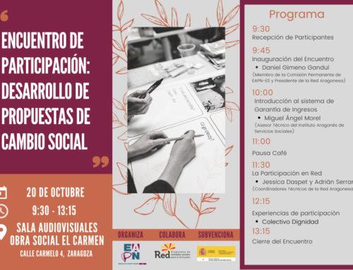 Encuentro de participación: Desarrollo de Propuestas de Cambio Social