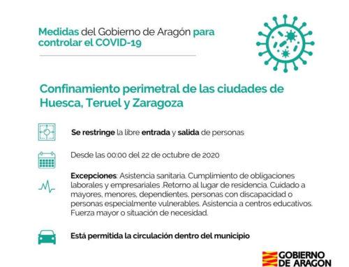 Nuevas restricciones en Aragón · confinamiento perimetral + Fase 3