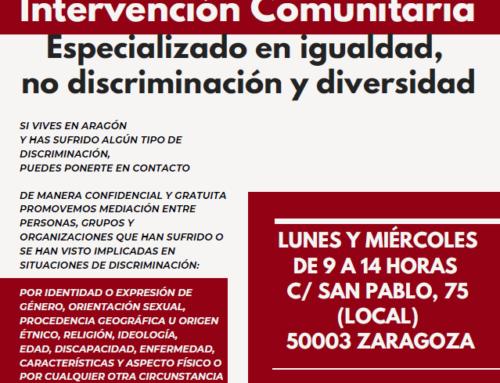 Vuelve AMEDIAR: Servicio de Mediación e intervención comunitaria especializado en igualdad, no discriminación y diversidad