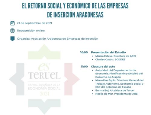 Presentación del estudio «El retorno social y económico de las empresas de inserción aragonesas» (Análisis SROI)