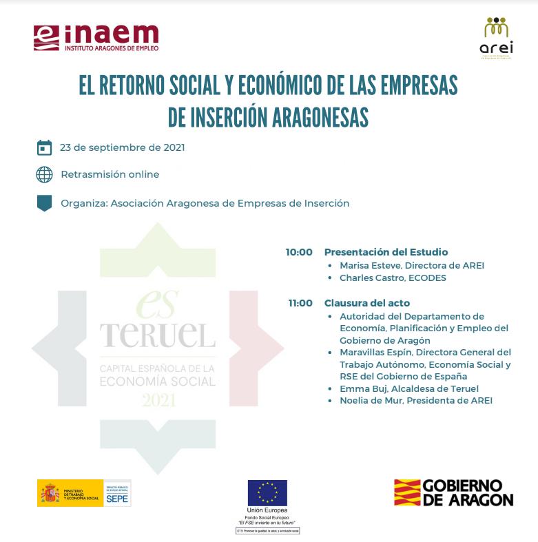"""Presentación del estudio """"El retorno social y económico de las empresas de inserción aragonesas"""""""