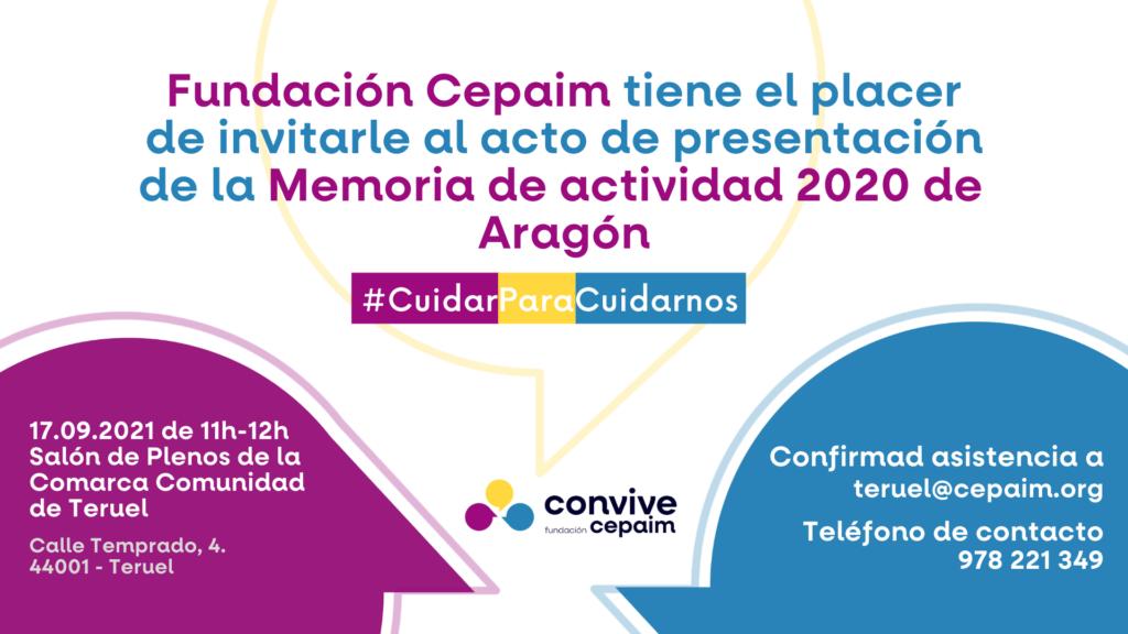 Fundación CEPAIM · Presentación memoria autonómica 2020 en Teruel