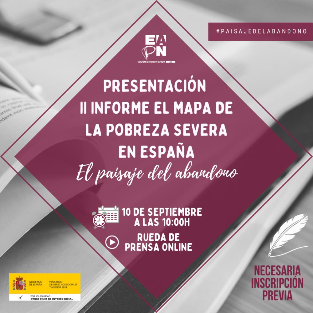 """Presentación II informe """"Paisaje de la pobreza severa en España"""""""