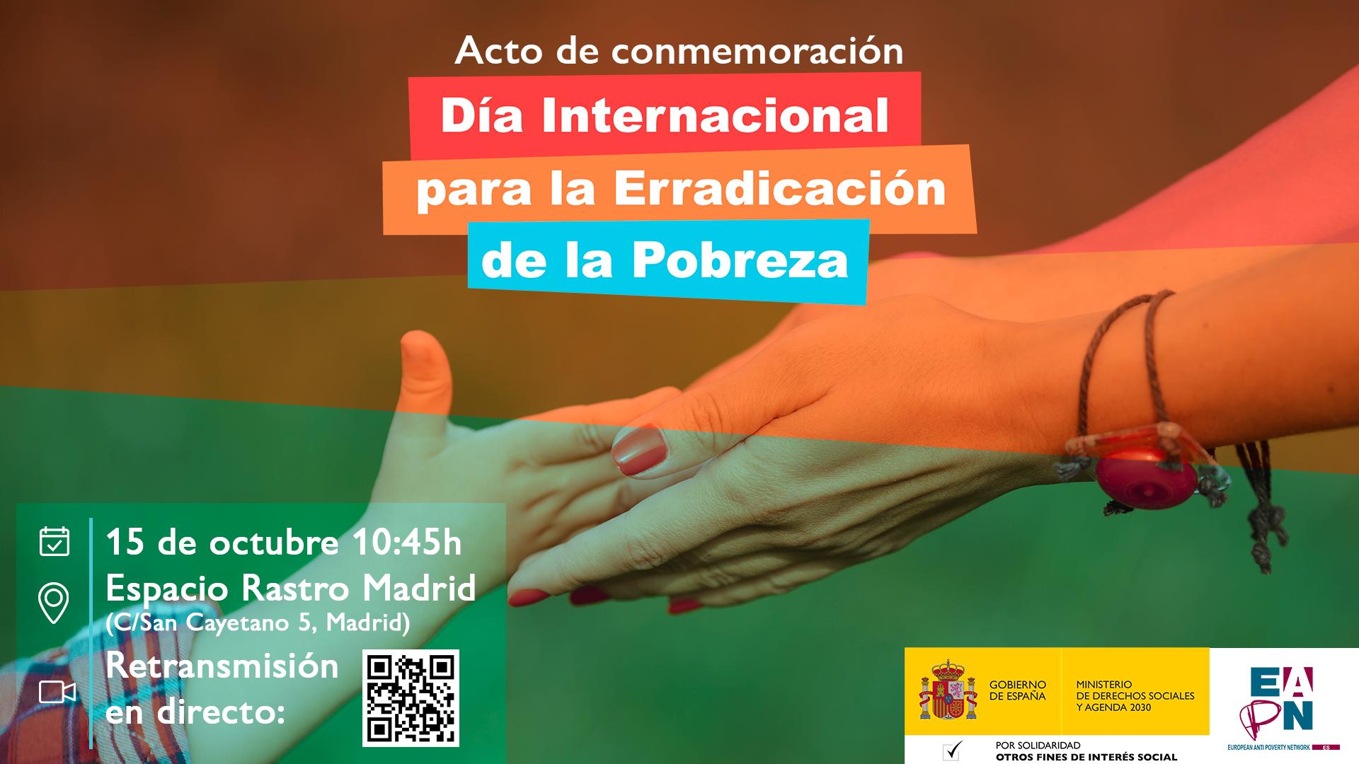 Acto conmemoración Día Internacional para la Erradicación de la Pobreza (online)